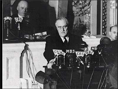 Roosevelt Declares War