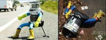 HitchBOT before and after